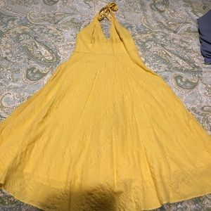 JCrew yellow halter dress size 2